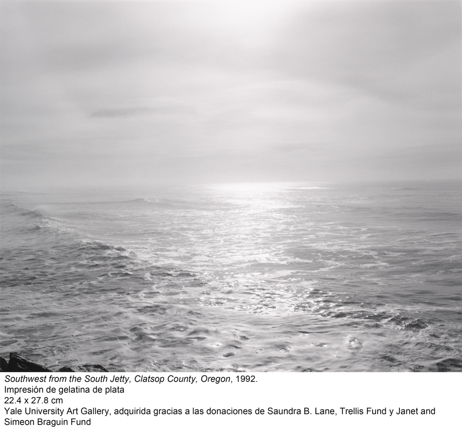 Southwest from the South Jetty, Clatsop County, Oregon, 1992. Robert Adams